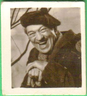 Victor McLaglen 1953 Wow Favourites of the Screen Trading Card