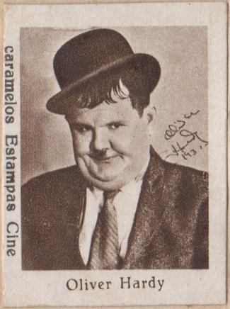Olivier Hardy circa 1934 Caramelos Estampas Cine Artistas de Cine