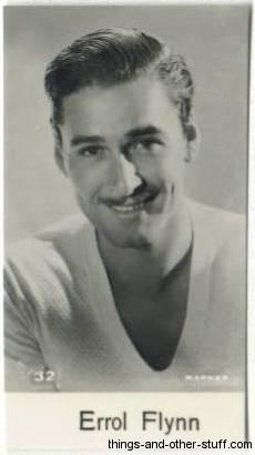 Errol Flynn Tcm Birthday Schedule Plus Vintage Movie Card