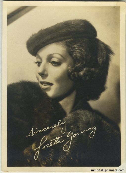 Loretta Young 1930s Fan Photo