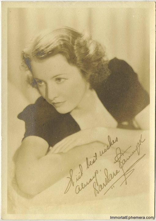 Barbara Stanwyck 1930s era 5x7 Fan Photo