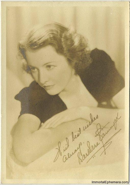 Barbara Stanwyck 1930s era 5x7 Fan Photo