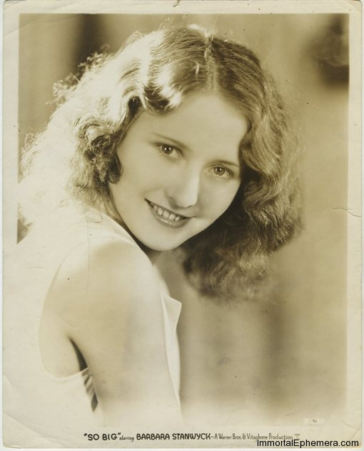 Barbara Stanwyck in promotion of SO BIG on a vintage 1932 promotional still photo