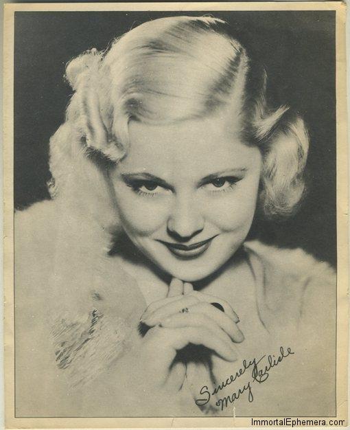 Mary Carlisle 1930s 8x10 Theater Handout Premium