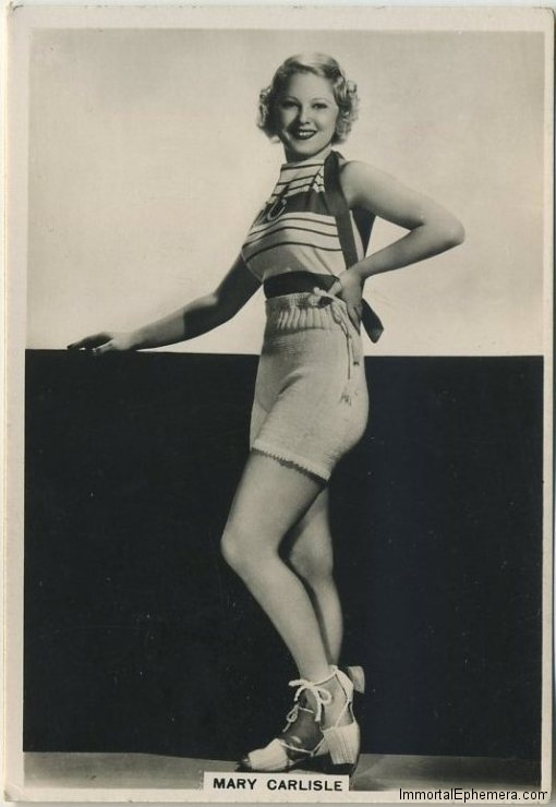 Mary Carlisle 1930s BAT Modern Beauties Series 1 Tobacco Card