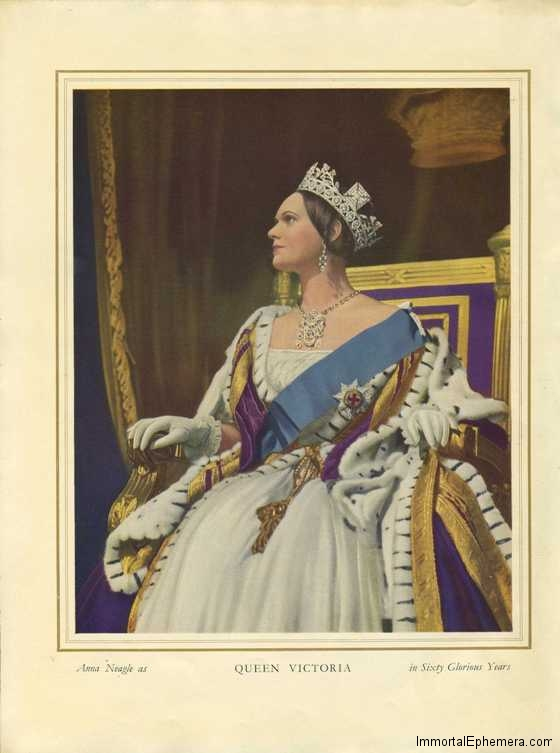 Anna Neagle as Queen Victoria in Sixty Glorious Years