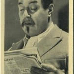 Warner Oland 1940 Cinema Cavalcade Tobacco Card