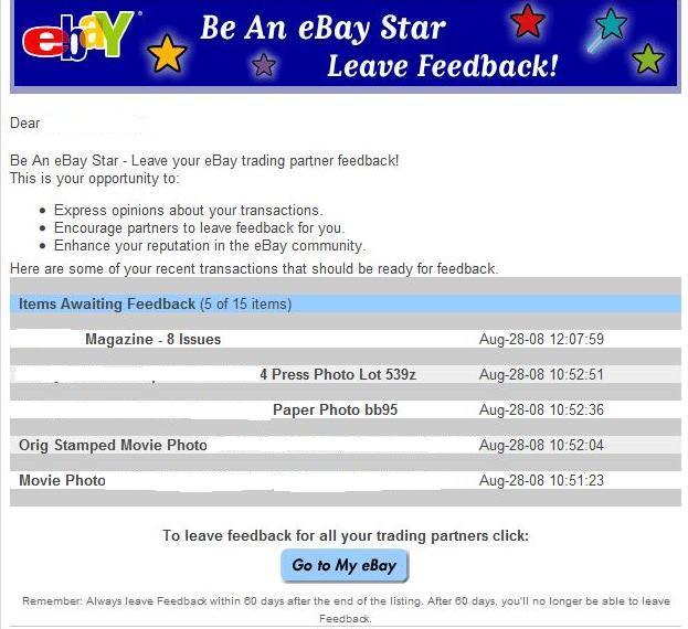 how to leave feedback on a return ebay