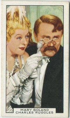 Mary Boland and Charlie Ruggles 1935 Gallaher Film Partners Tobacco Card