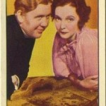 Charles Laughton and ZaSu Pitts 1935 Carreras Tobacco Card