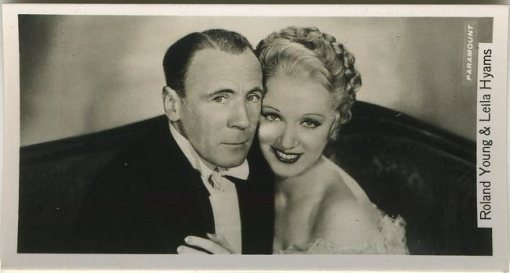 Roland Young and Leila Hyams 1937 John Sinclair Tobacco Card