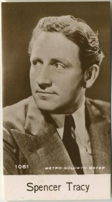 Spencer Tracy 1940 De Beukelaer Trading Card