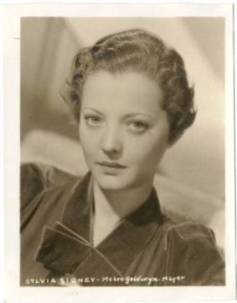 Sylvia Sidney 1936 MGM-Watkins Promotional Photo