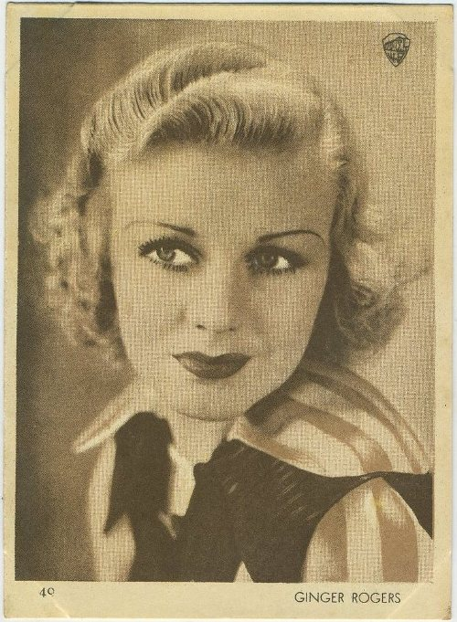 Ginger Rogers 1930s Aguila Chocolates Trading Card