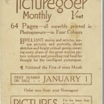 1913 Picturegoer promotional advertising card featuring the Talmadge Sisters