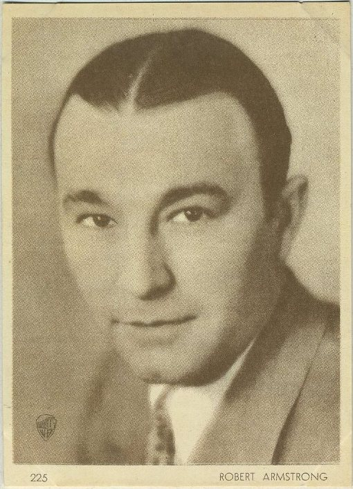 Robert Armstrong 1930s Aguila Chocolates Trading Card