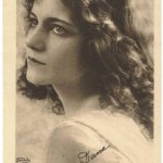 Viola Dana 1916 Watercolor Company Premium Photo