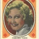 Thelma Todd Hamilton Gum Trading Card