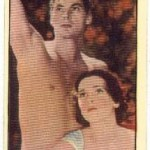 Johnny Weissmuller and Maureen OSullivan tobacco card