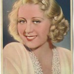 Joan Blondell 1936 Nestles oversized trading card