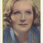 Greta Garbo 1939 Rothmans tobacco card