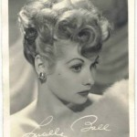 Lucille Ball 1940s small 3x5 fan photo