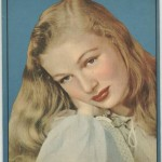 Veronica Lake on cover of 1940s Writing Tablet
