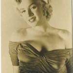 Marilyn Monroe 1950s photo card