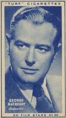George Macready 1947 Carreras Turf Tobacco Card