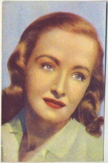 Nina Foch 1951 Artisti de Cinema Trading Card
