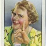 Marie Dressler tobacco card