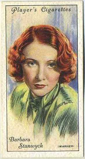 Barbara Stanwyck 1934 Players Film Stars Series 2 Tobacco Card