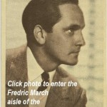 Fredric March TCM Star of the Month October 2010