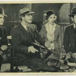 Paul Muni Karen Morley and George Raft in Scarface on 1940 Max Cinema Cavalcade Card