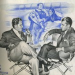 Spencer Tracy and Ed Sullivan Illustration by Shapi