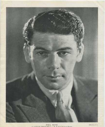 Paul Muni 1936 R95 8x10 Linen Textured Premium Photo