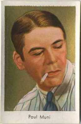 Paul Muni 1930s Salem Goldfilm Tobacco Card