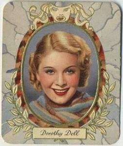 Dorothy Dell 1930s Garbaty German Tobacco Card