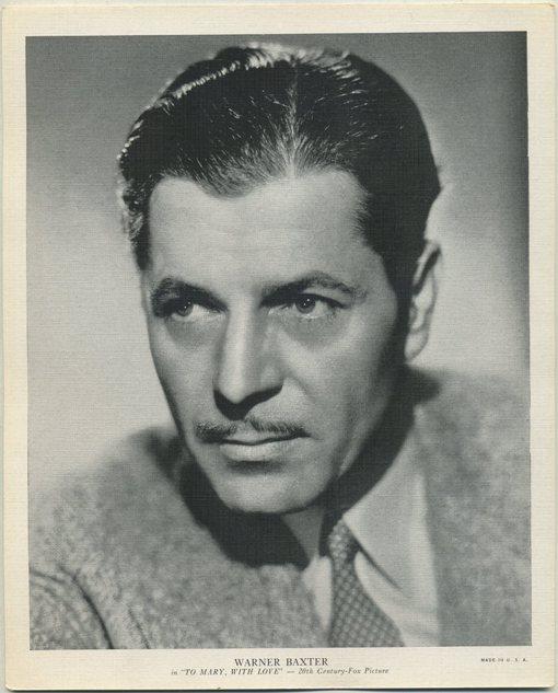 Warner Baxter 1936 R95 8x10 linen textured premium photo