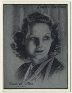Elizabeth Allan 1934 Players Film Stars Tobacco Card