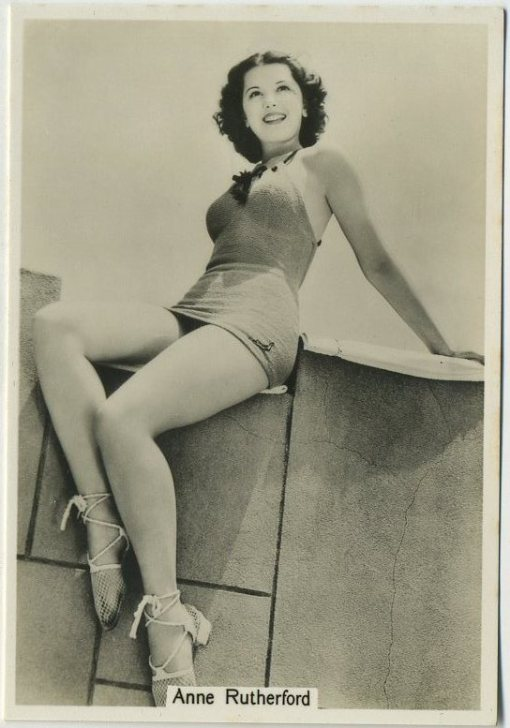 Ann Rutherford 1939 Godfrey Phillips Beauties of To-Day Series 7 Tobacco Card