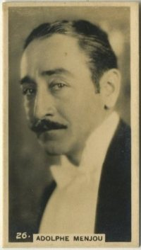 Adolphe Menjou 1925 BAT Tobacco Card