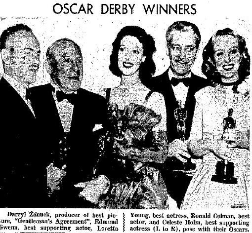 1948 Oscar Winners