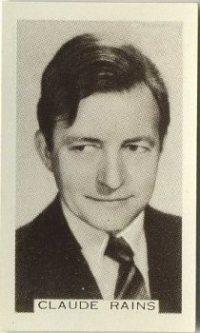 Claude Rains 1936 Facchinos Trading Card