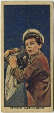 Freddie Bartholomew 1939 Mars Trading Card