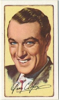 Gary Cooper 1935 Gallaher Tobacco Card