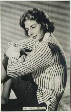 Ingrid Bergman 1940s Real Photo Postcard