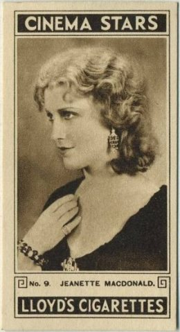 Jeanette MacDonald 1932 Lloyds Cinema Stars tobacco card