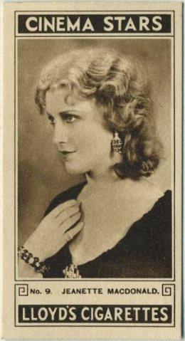 Jeanette MacDonald 1932 Lloyds Cinema Stars tobacco card