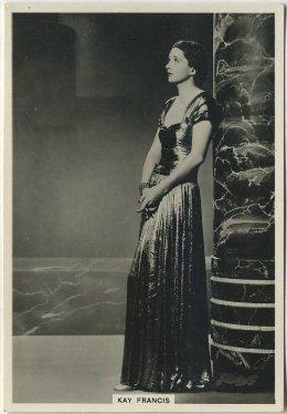 Kay Francis 1930s BAT Modern Beauties tobacco card
